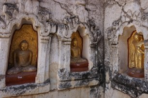 27. an external corner of Bagan's Mahabodhi Pagoda